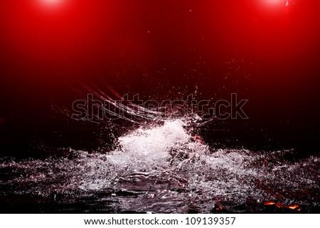 Splash drops background scene