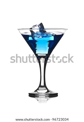 Splash from pouring martini into the glass.