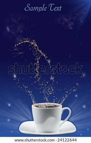 Splash in coffee cup