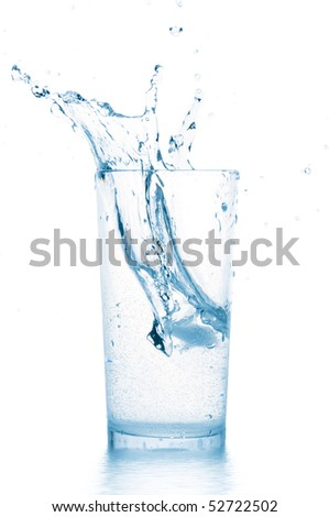 splash in water glass