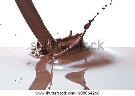 splash of chocolate isolated on white background