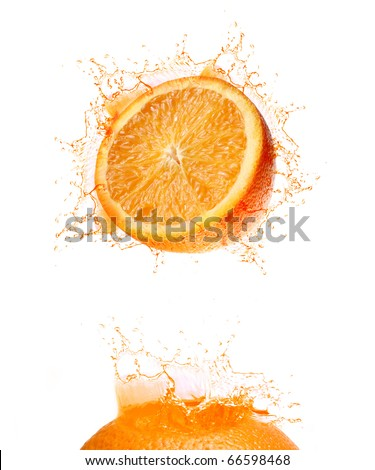 Splash of orange drink