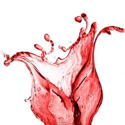 splash of red juice