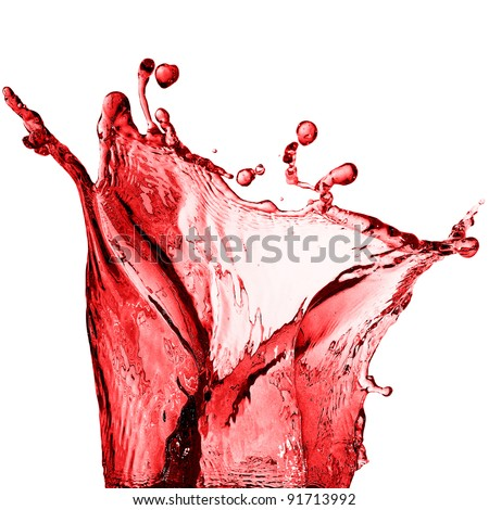 splash of red juice