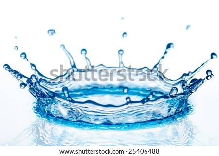 splash of turquoise water on white background