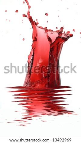 splash of  water on a white background
