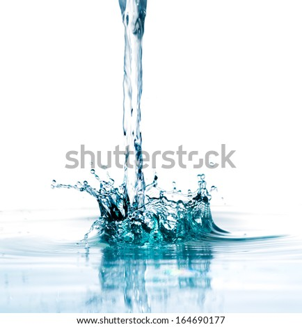 splash water isolated on a white background - stock photo