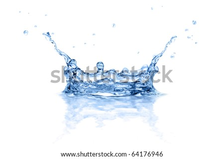 splash water isolated on a white background