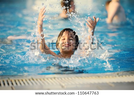 Splash water pool kid summer