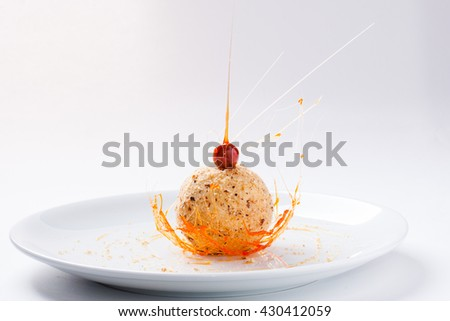 Splashes dessert, creative dessert #430412059