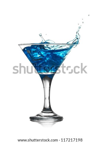 splashing into a martini