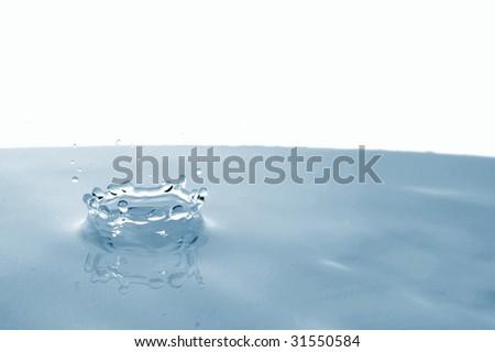 splashing water drop showing a health concept