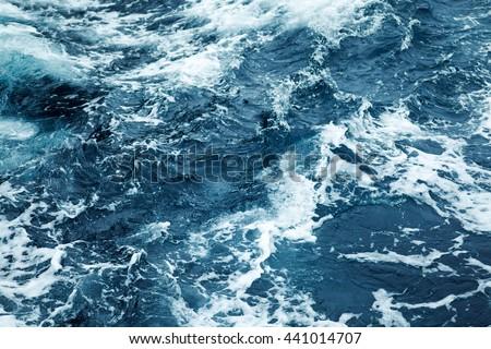 splashing waves view of rippled ...