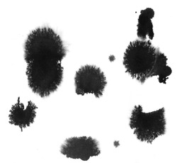 Splats and blobs of paint, goo for photoshop brushes etc