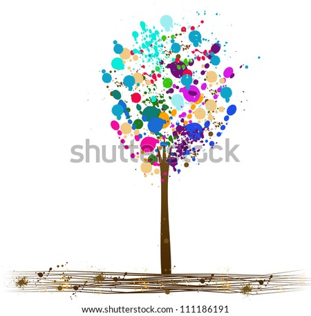 Splattered Autumn Tree