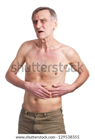 Spleen pain concept - stock photo