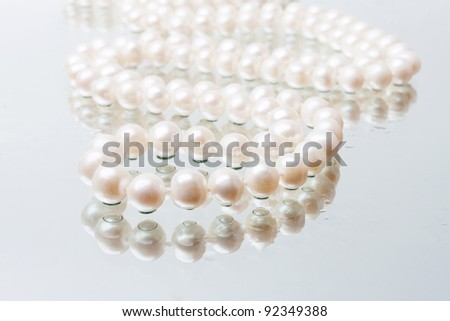 splendid necklace of white pearls