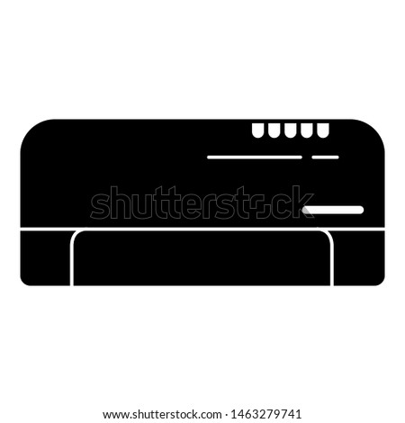 Split air conditioning system icon. Simple illustration of split air conditioning system icon for web design isolated on white background