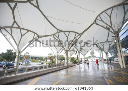 SPLIT, CROATIA - MAY 9: Newly renovated airport on May 9, 2010 in Split, Crotia. It now serves over 1,200,000 passengers yearly.