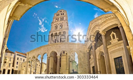 Split historic Peristil UNESCO world heritage site, Dalmatia, Croatia