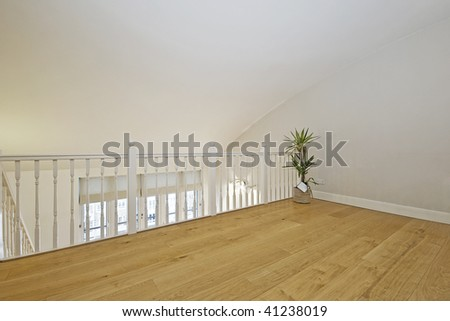 Living Room on Split Level Living Room Set In The Loft Stock Photo 41238019