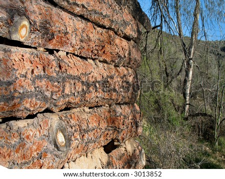 Split Log Wall