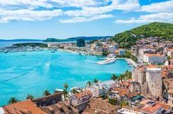 Split panoramic view of town, Dalmatia, Croatia.