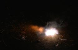 Split Second photo of firecracker explosion blast Diwali Fireworks Pollution Maharashtra India
