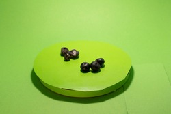 spoiled blueberry isolated chromakey mold decomposing storage