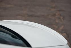 Spoiler on the trunk of modern car