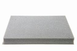Sponge cushioning Grey color on white background