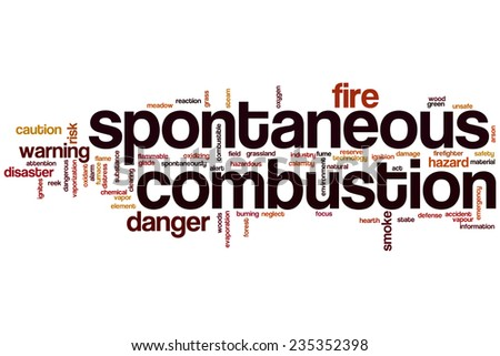 Spontaneous combustion word cloud concept