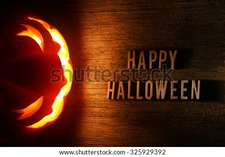 Spooky Halloween background with jack o lantern - Happy Halloween