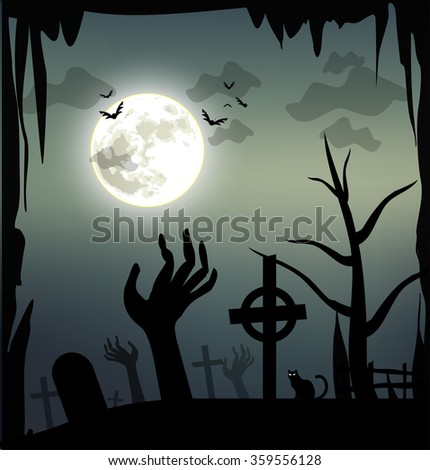 Spooky Halloween illustration #359556128