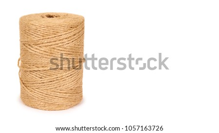 Spool of bale twine isolated on white background. copy space, template.