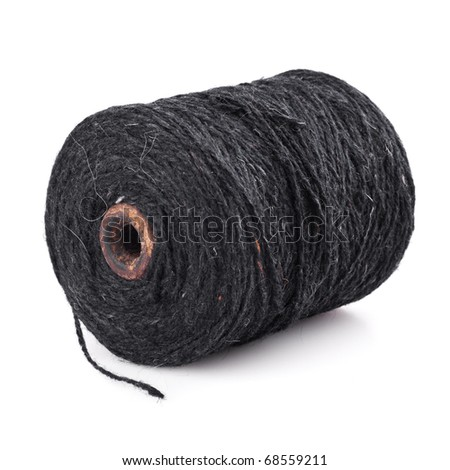 spool of yarn isolated on a white background