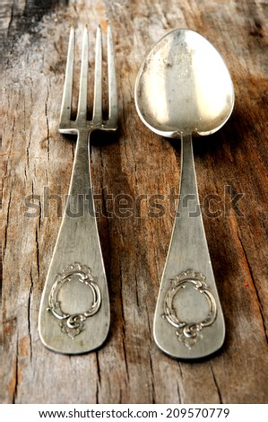 spoon and fork silverware