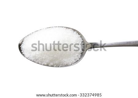 Spoon of fine granulated sugar