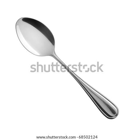 spoon on white background - stock photo