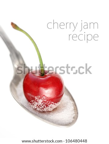 Spoon with cherry