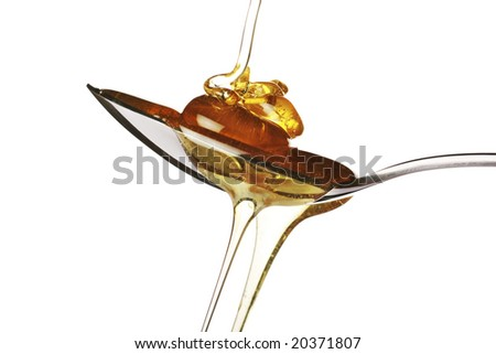 spoonful of delicious sweet honey