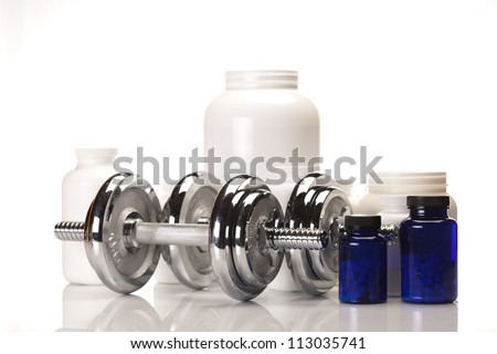 Sport and Fitness Supplement isolated on white background