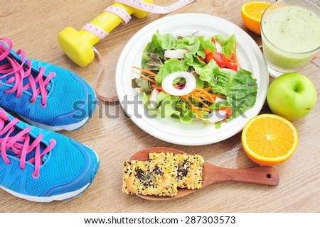 Sport and healthy food for diet,health and diet concept.