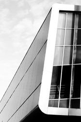 Sport arena facade in Aalborg, Denmark