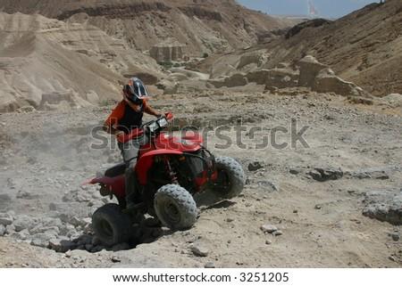 Sport ATV At The Rally Desert - stock photo