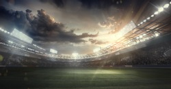 Sport Backgrounds.  Soccer stadium.