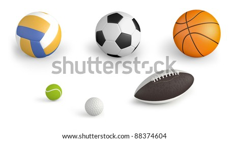 sport balls isolated on white background #88374604