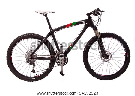 sport black bicycle isolated