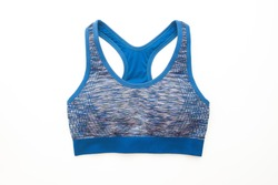 Sport bra isolated on white background