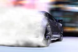 Sport car drifting on the ground